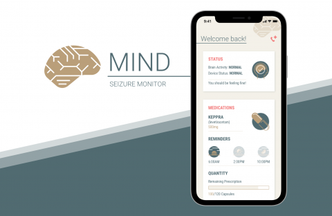 Mockup for a design for a Neuralink-inspired app
