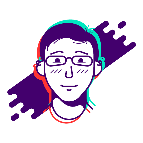 Vector self-portrait of just my face